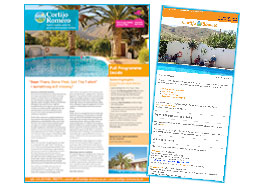 Cortijo Romero brochure and email
