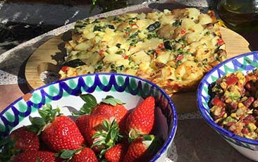 strawberries and frittata